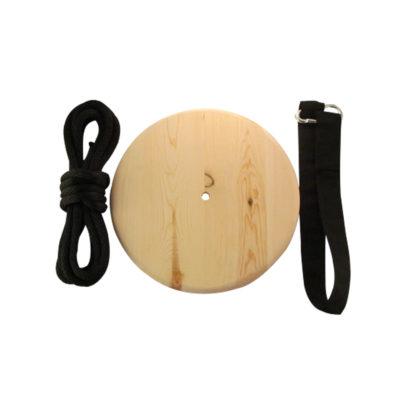 wood disc tree swing kit - natural wood finish