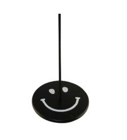 black and white smiley face tree swing for kids
