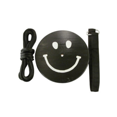 black and white smiley face tree swing kit