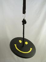 black yellow smiley tree swing