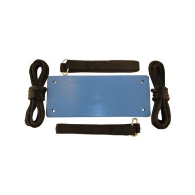 blue adult wood tree swing kit