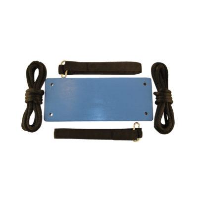 wood tree swing kit for children - blue
