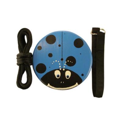 blue lady bug tree swing kit for children