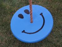 kids tree swing - blue smiley face combo
