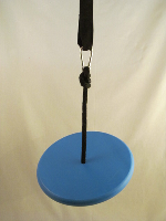 blue round swing kit for trees