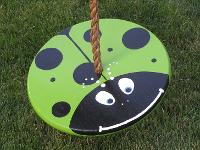 green lady bug tree swing for kids