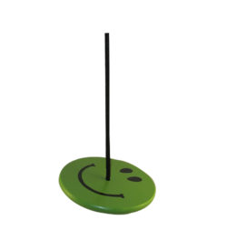 childrens round tree swing - green smiley face