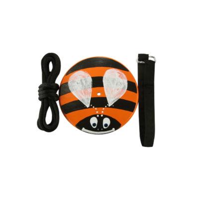 orange bumble bee tree swing kit for kids