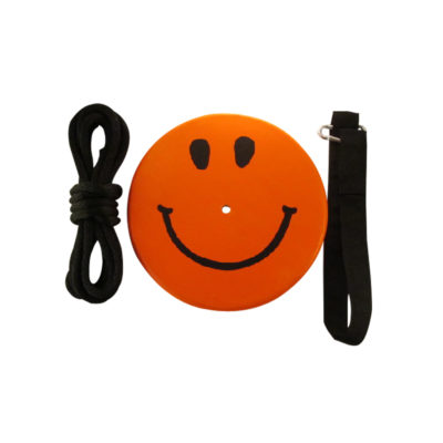 orange smiley face tree swing kit for kids