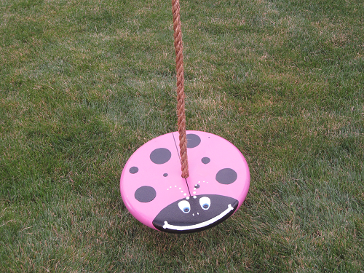 lady bug tree swing for children