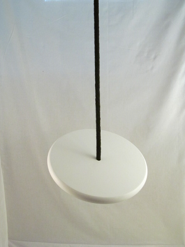 white disc swing for trees