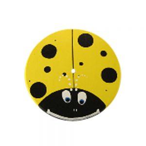 Yellow Lady Bug Wood Disc Swing Seat