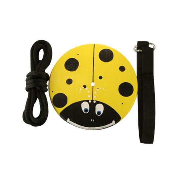 yellow lady bug tree swing kit