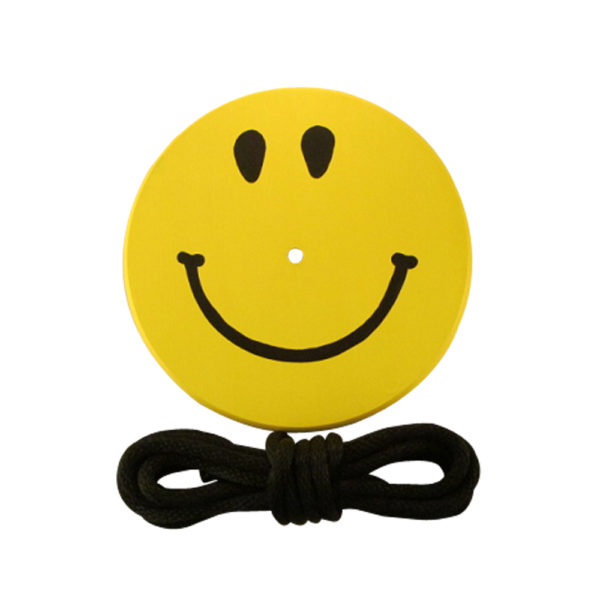 Yellow smiley tree swing for kids