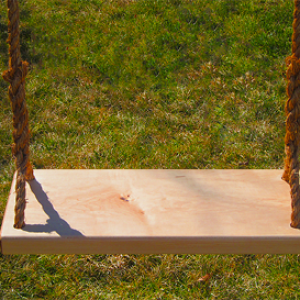 Oak Adult Wood Tree Swing Combo