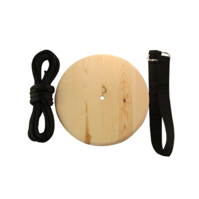 wood disc tree swing kit - natural wood finish