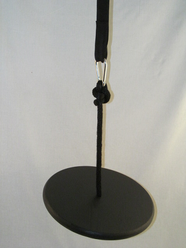 black wood disc swing kit