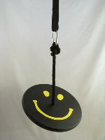 black yellow smiley tree swing