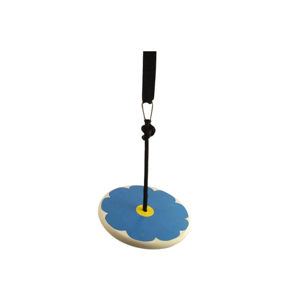 blue flower wood tree swing for kids - kit