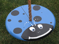 blue lady bug kids tree swing