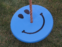 kids tree swing - blue smiley face combo