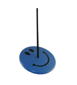 blue smiley face tree swing for kids