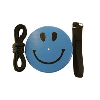 blue smiley tree swing kit for kids