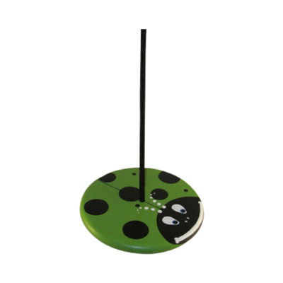 wood tree swing for kids - green lady bug