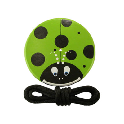 green lady bug tree swing for kids