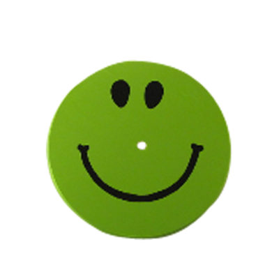 childrens tree swing - green smiley seat
