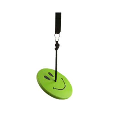 tree swing kit for kids - green smiley