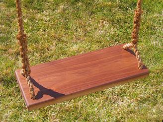 Walnut Kids Tree Swing
