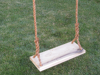 classic wood kids tree swing
