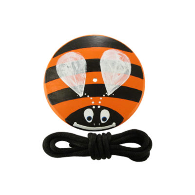 orange bumble bee childrens swing