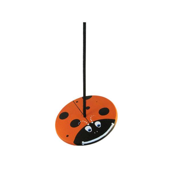 kids tree swing - orange lady bug