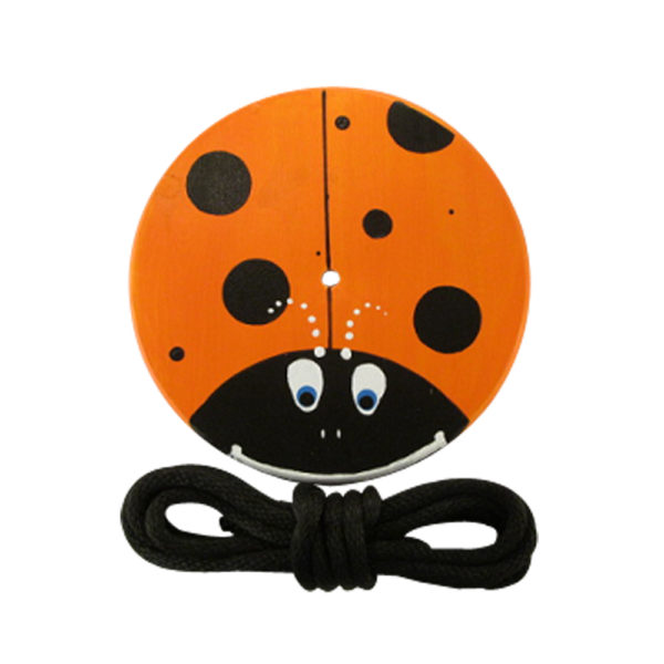 orange lady bug swing for kids and children