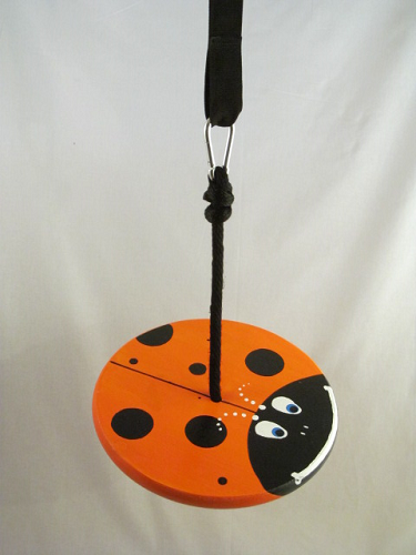 orange lady bug tree swing kit for children