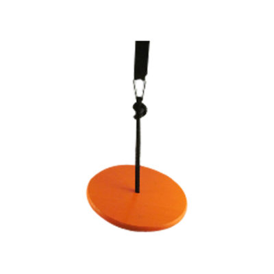 wood tree swing for kids - orange