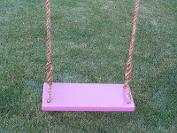 Tree Swings For adults - purple-adult-classic-wood-tree-swing-with-brown-rope