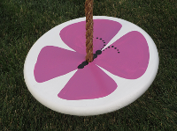 Kids Tree Swing - purple-butterfly-brown-rope