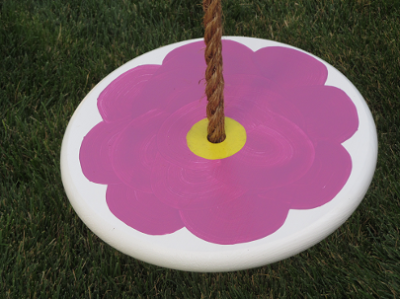 kids tree swing - purple flower