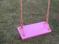 kids tree swing - purple classic kids swing