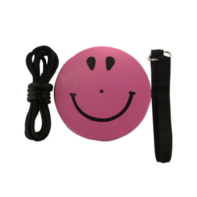 purple smiley face swing kit for kids