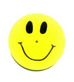 Yellow Smiley Face Wood Disc Swing Seat