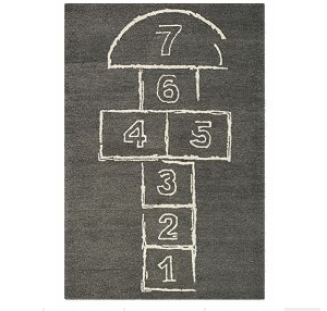 Hop Scotch on the pavement. Fun for kids outdoors brought to you by tree swing store.
