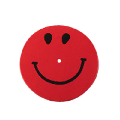 red smiley face kids tree swing