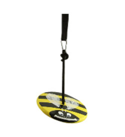 yellow bumble bee kids tree swing