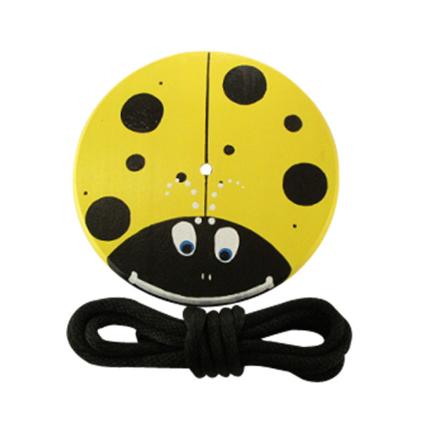 yellow lady bug wood tree swing for kids
