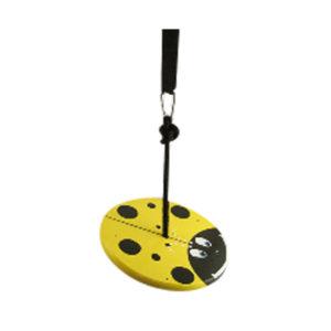 Yellow Lady Bug Wood Disc Swing Kit