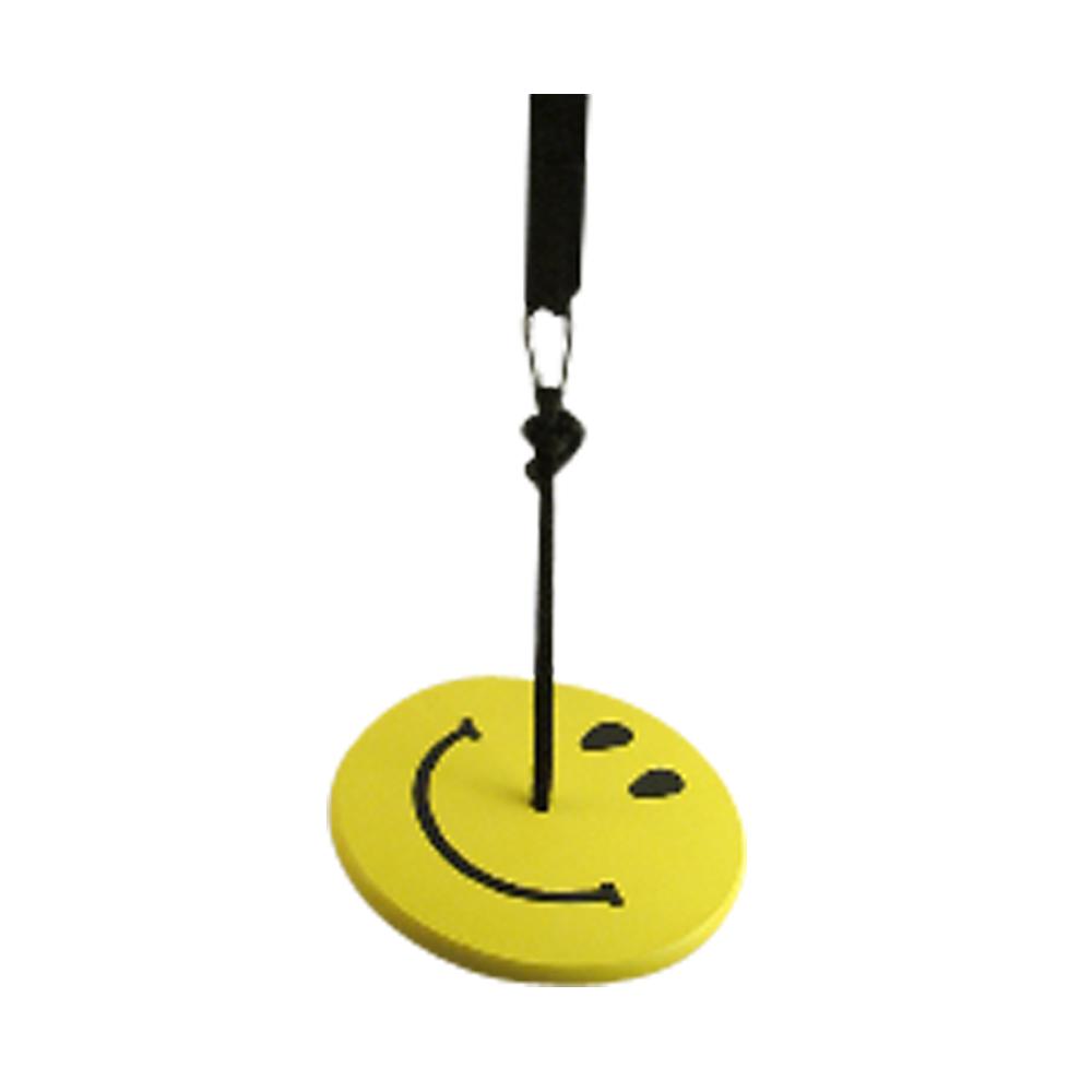 yellow smiley tree swing kit for kids